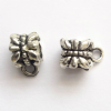 40 Tibetan Silver Spacer Beads 7mm Bails